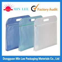 2014 competitive price clear plastic zipper bag with handle