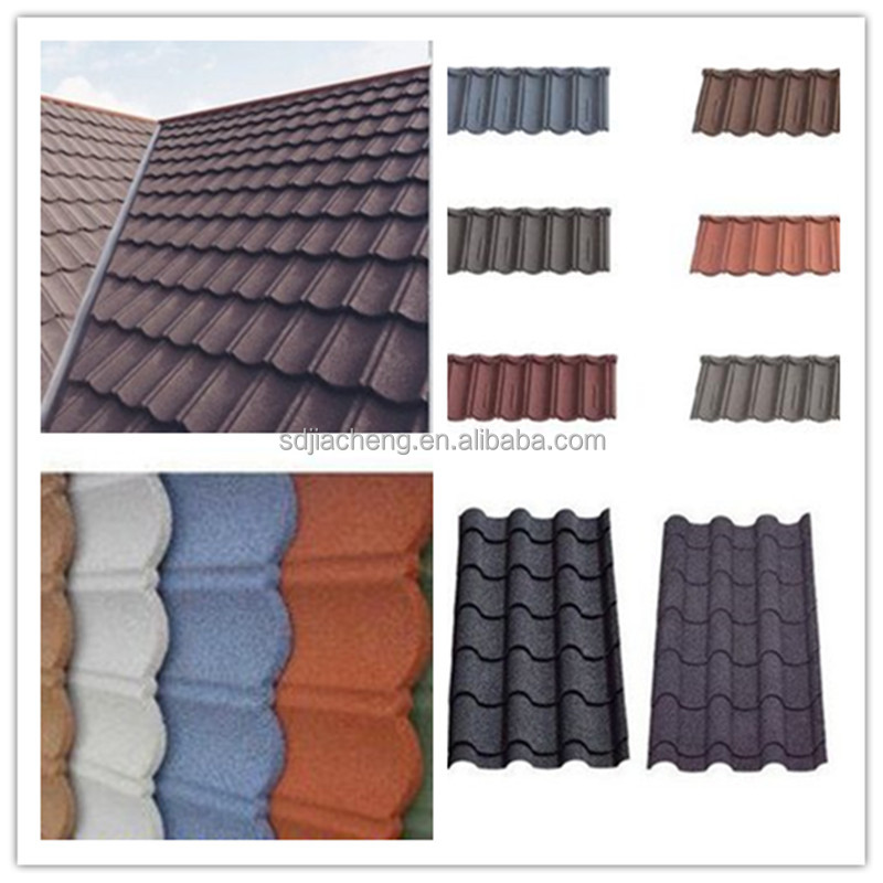 Colored Corrugated Steel Plate Colorful Stone Coated Metal Roofing Tiles