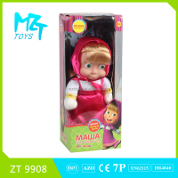 2016!Lovely 12 inch wadding Russia Masha baby doll,two models mixed ZT9908