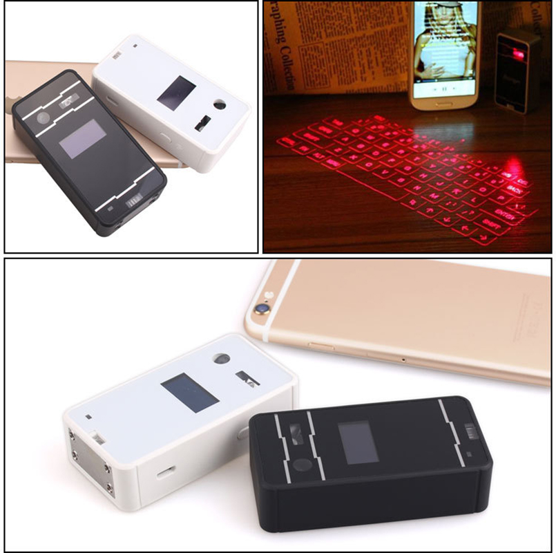 Mini portable virtual laser projection keyboard Wireless mouse Support IOS Android with LED Display Keyboard