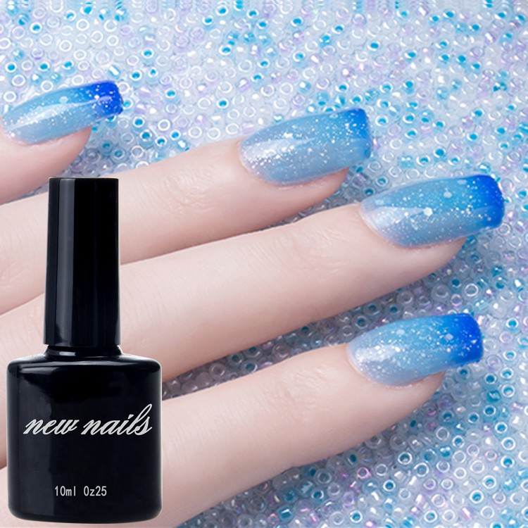 Newnail professional nail art supplier temperature changing gel mood change uv gel polish