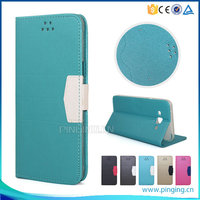 Frosted sand grain pu magnetic pu leather flip cover for infinix x600 note 2