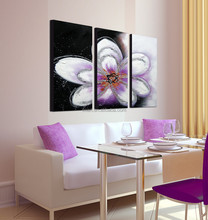 Handmade Group Flower Oil Painting on Canvas