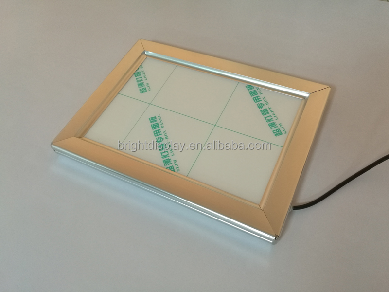 LED back lighted picture frames for <strong>advertising</strong>.