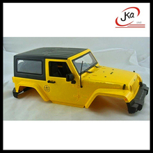 1:10 for sale hot supplying toy/ rc car 4x4 wrangler yellow body shell rc rock jeep buggy /crawler