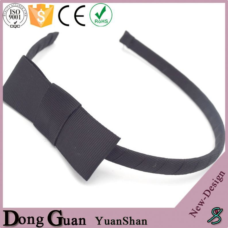2016 new design colorful elastic rubber flexible hair bands satin girl band bows made of