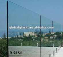 Greenhouse ultra clear glass tempered glass pool fence panels
