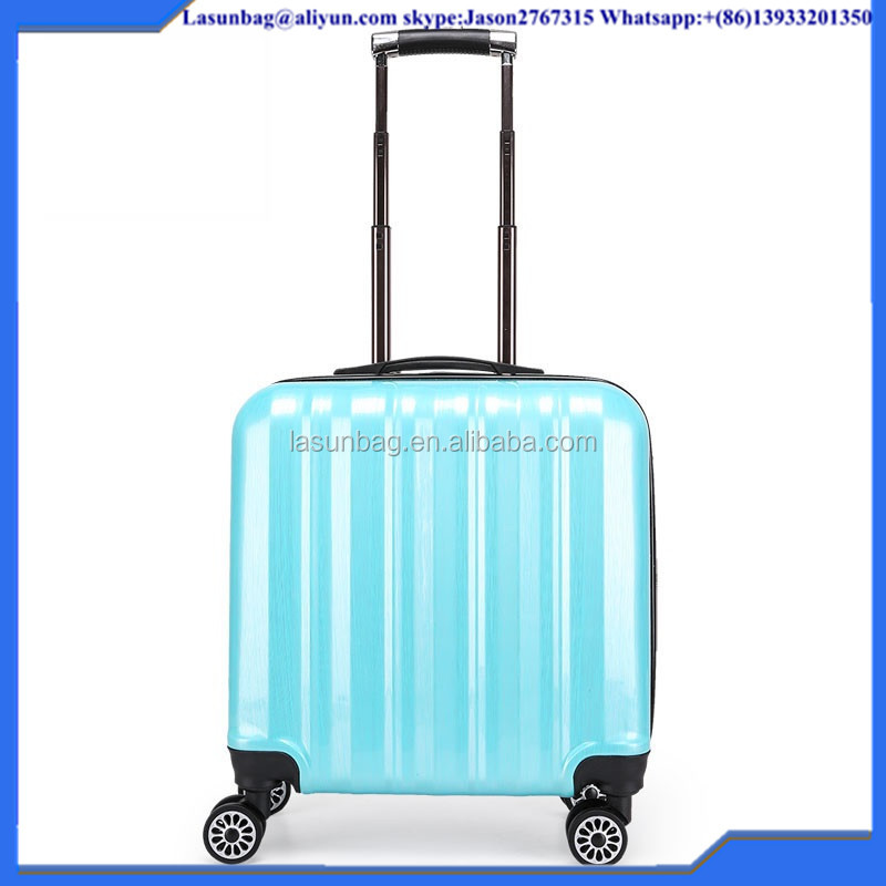 Classical Light Green Custom Code Lock Sky Travel Type Small Size 16 inch Trolley Luggage Travelling Bags