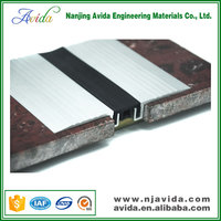 Elastic EPDM Rubber Tile Expansion Joint in Concrete