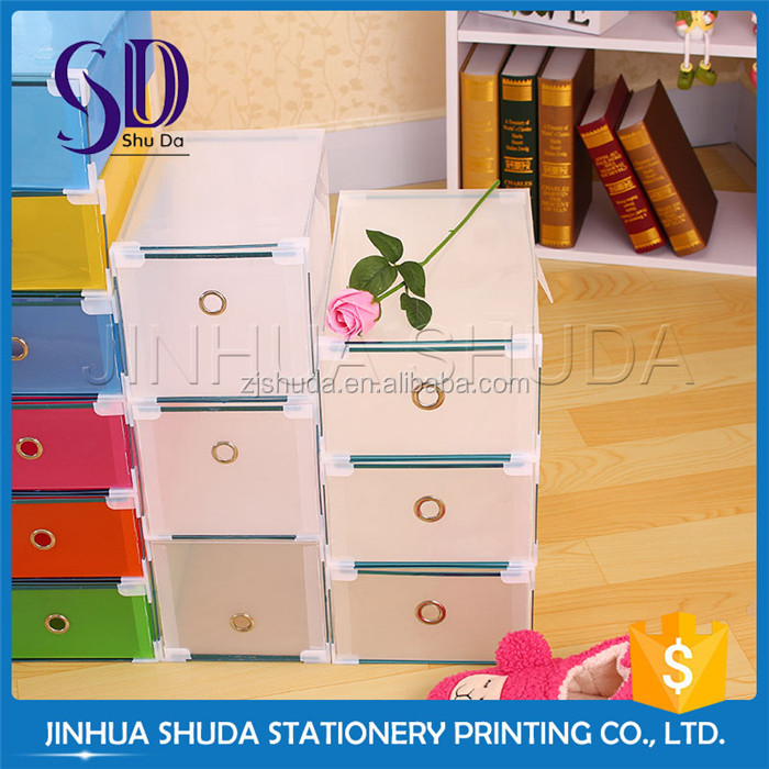 Self Design PP foldable plastic shoe box drawer