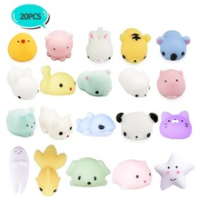 kawai animals TPR cool squeeze ball squishy combined toys(20 pieces)