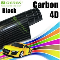 Derek Black 4D Car Paint Protection Film For Car Wrapping With Air Free Bubbles 1.52*30m