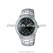 2013 new chronograph watches stainless steel fashion China OEM factory watch with three eyes and six hands dial watch men