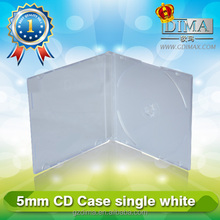 5mm white cd holder case plastic wholesale