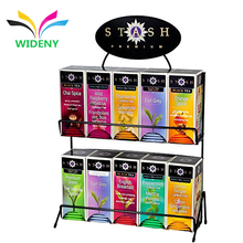 Metal instant coffee tea box counter display rack