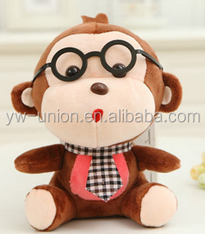 wholesale custom Fashion cheap plush Plush toys Farting funny monkey mini monkey keychain toy small size monkey plu Plush Toy