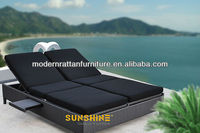 2014 New! Double Rattan Sunbed / Pool Lounge Chair