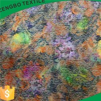 2015 newly hot design air layer cloth fabric scuba for digital printing with burnout