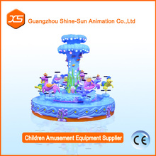 kids electric mini amusement rides carousel indoor playground equipment