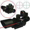 2.5-10x40R+HD107 Dual Illuminated Rifle scope Cut Sunshade plus with red dot scope