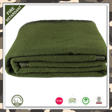 2016 Hot!!!!!! 100% wool soft army blanket polyester thick military throw blanket export to America