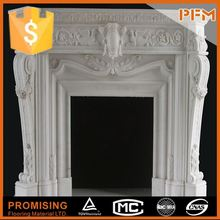 Natural carved marble fireplace mantel parts