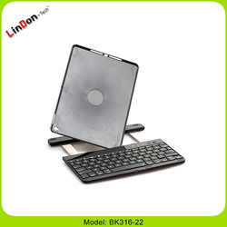 Fancy bluetooth keyboard for ipad air 2 rotable keyboard with kickstand and clamshell