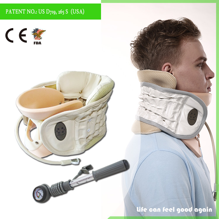 inflatable cervical collar neck pain relief belt