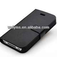 In Stock Magnetic Closure PU Leather Cover With Hot Stamping on the Surface for iphone 5