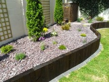 wood landscape edging