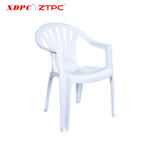 Durable fancy new arrival garden white plastic outdoor stackable chair with plastic legs