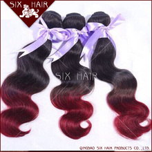 most popular fast delivery body wave ombre hair weave,ombre brading hair extension