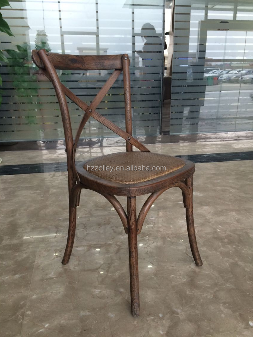 Vintage industrial oak wood <strong>chair</strong> stackable x back <strong>chair</strong> cross back dining <strong>chair</strong>