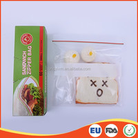 Reclosable color seal food grade ldpe mini plastic zipper bag