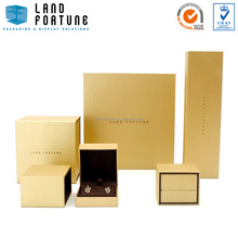 Gold color sliding sleeve box jewellery packaging boxes hard plastic