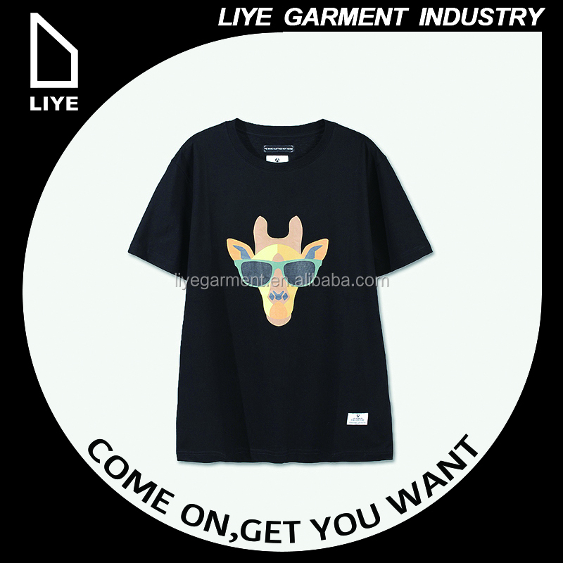 China Liye professional manufacturer high quality hot and fashion design 3d printing t-shirt clothing