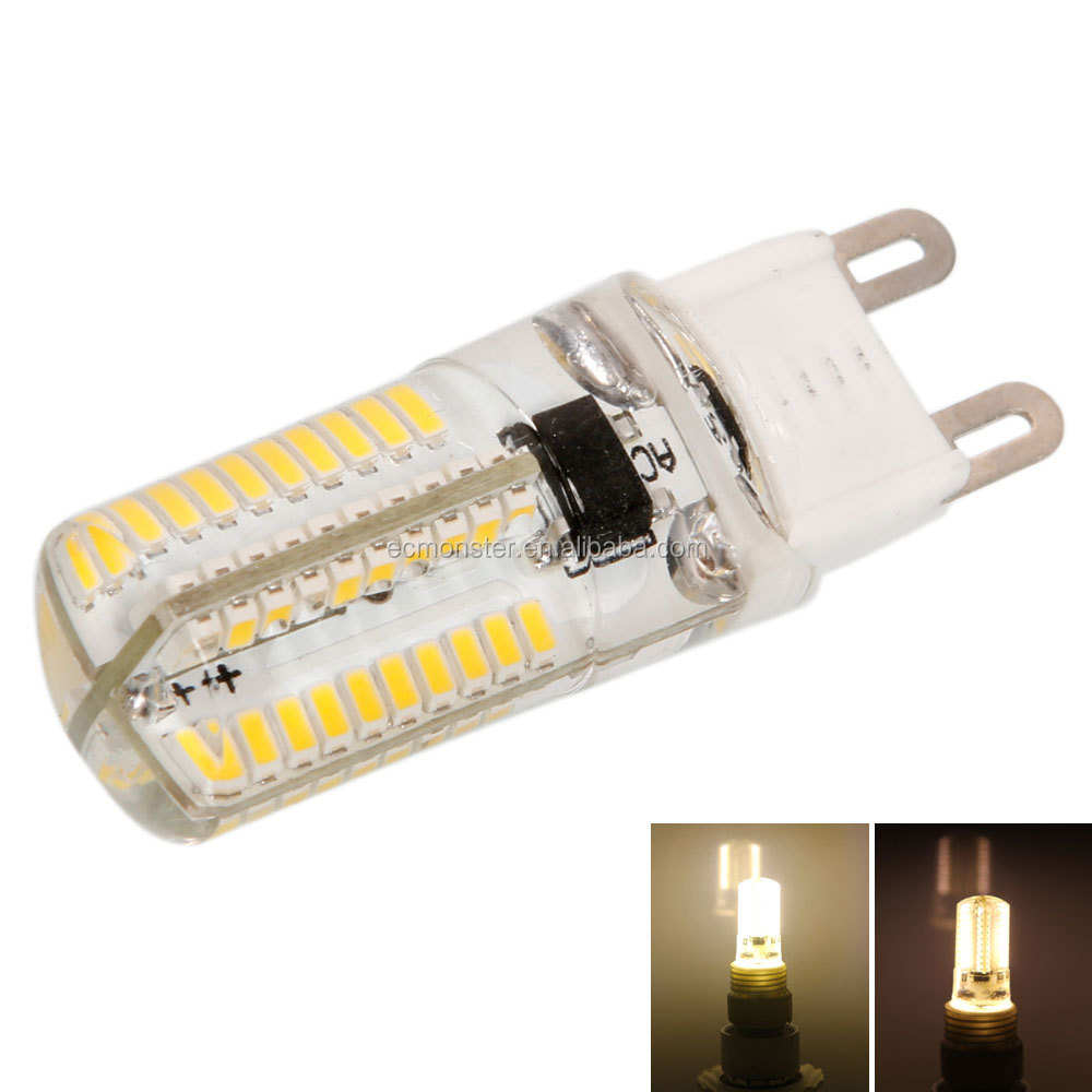 G9 6W SMD3014 80LED 3000-3500K Warm White Dimmable Silicone Corn Bulb <strong>Light</strong>