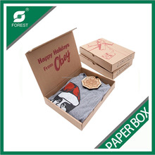 Customized designs foldable wrap shirt creative paper packaging wrapping box without glue