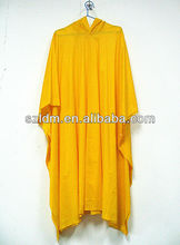 Waterproof Cheap Yellow Polyester PVC bicycle rain poncho