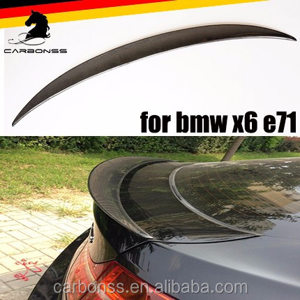 1PC CARBON FIBER REAR TRUNK BOOT SPOILER LIP WING FOR BMW X6 E71 2008-2014