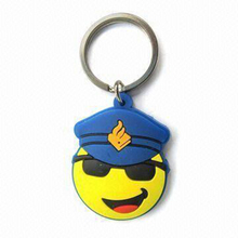Cheap low price 2D soft pvc keychain for promotions