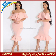 2017 high quality women ball dress off shoulder bodycon evening dress
