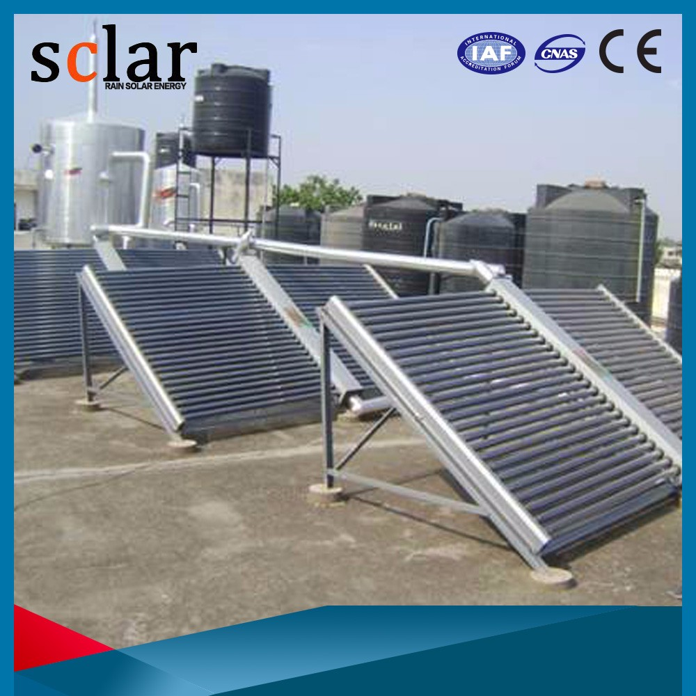 High efficiency CE approved antifreeze heat pipe vacuum tube solar collector