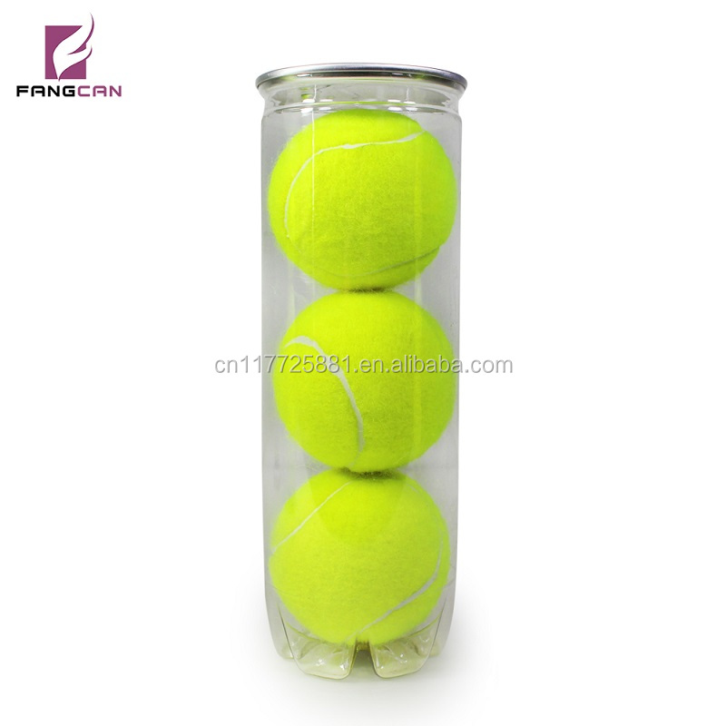 Custom Printed 45% Wool Rubber Tournament Tennis Ball with Cans packing