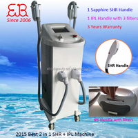 2015 SHR 950nm remove unwanted hair permanently CE approved / heat treatment