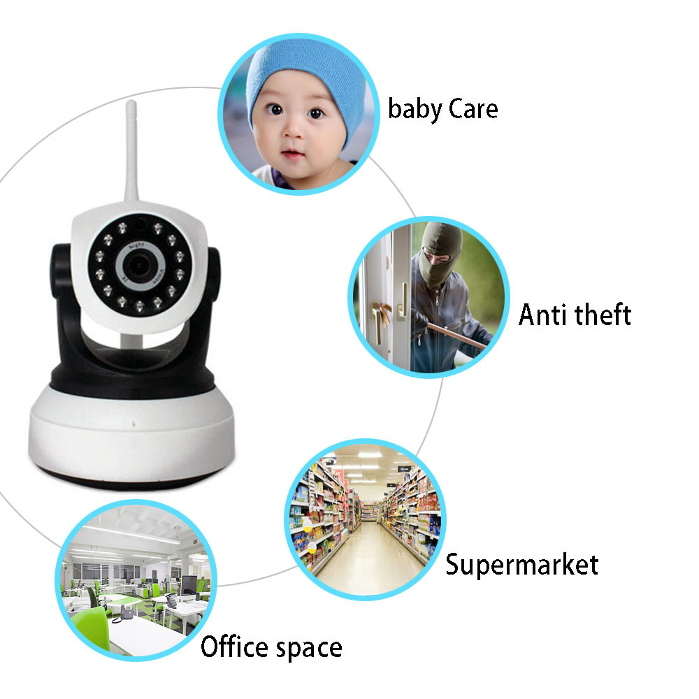 Bessky Factory Home Security IP Camera P2P Network Baby Camera mini ip camera 1megapixel
