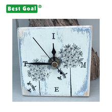 Handmade home decor Rustic small wooden clock