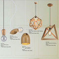 Contemporary Type and energy saving,Energy Saving Light Source wood pendant lamp
