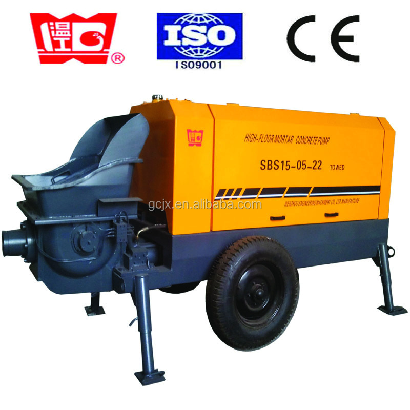 Smallest 12M3/h concrete mixer pump for small construction