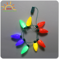 2017 Trending Products Christmas Party Decoration Bulb Necklace with LED Lights